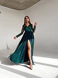 Сукня вечірня з мереживним верхом BRQ2724, фото 7