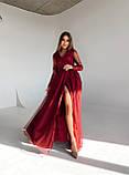 Сукня вечірня з мереживним верхом BRQ2724, фото 3