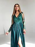 Сукня вечірня з мереживним верхом BRQ2724, фото 8