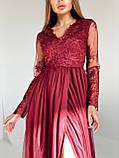 Сукня вечірня з мереживним верхом BRQ2724, фото 4