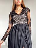 Сукня вечірня з мереживним верхом BRQ2724, фото 6