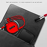 120 см 3 в 1 заряд USB-кабель iPhone & Micro USB & USB C кабель розсувний портативний зарядки кабель, фото 8