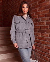 Пальто-рубашка женское демисезонное 1364 | 40, 42, 44, 46, 48 размеры
