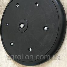 """Прикотуюче колесо в зборі ( диск поліпропілен ) з підшипником 1"""" x 12"""", John Deere, AN212801"""