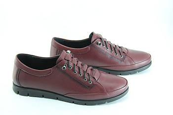 Туфлі жіночі шкіряні баталов 39-42 Erpass 808-BORDO(B)