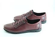 Туфли женские кожаные баталы 39-42  Erpass 808-BORDO(B), фото 2