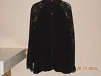Кофта с плиссе и кружевными рукавами, фото 1