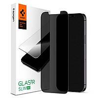 Защитное стекло Spigen для iPhone 12/ 12 Pro - (Антишпион) GLAS.tR Slim ™ Privacy (AGL01513)