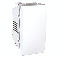 Выключатель 1-клавишный (сх. 1) (1 модуль Белый, Unica) MGU3.101.18