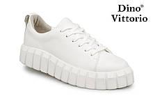 Белые женские кеды натуральная кожа Dino Vittorio