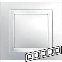 Рамка 5-местная  Unica Basic (белый/белый) MGU2.010.18