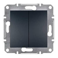 Перемикач-вмикач (сх.6+6) (графіт) SEDNA Schneider Electric SDN0600170