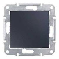 Перемикач-вимикач одноклавішний (сх.6) (графіт) SEDNA Schneider Electric SDN0400170