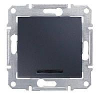 Вимикач одноклавішний з підсвічуванням (сх.1) (графіт) SEDNA Schneider Electric SDN1400170