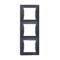 Рамка 3-місна вертикальна (графіт) SEDNA Schneider Electric SDN5801370