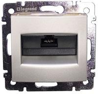 Комп'ютерна розетка 1xRJ45 кат.5Е UTP на захопленнях Valena (алюміній) 770230