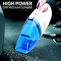 Потужний і компактний автомобільний пилосос High-power Portable Vacuum Cleaner 60W 12V від прикурювача, фото 4