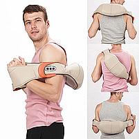 Масажер для шиї, плечей і спини з ІЧ-прогріванням Massager of Neck Kneading з прогріванням, фото 7
