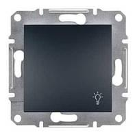 "Кнопка з символом ""Світло"" Asfora Антрацит EPH0900171"