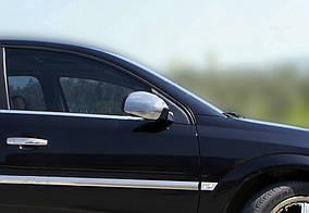Opel Vectra C 2002↗ рр. Накладки на дзеркала (2 шт., нерж) OmsaLine - Італійська нержавійка