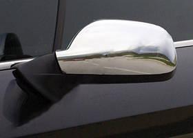 Peugeot 407 Накладки на зеркала (2 шт) OmsaLine - Хромированный пластик