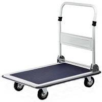 Тележка платформенная грузовая до 300 кг складная для магазина склада (Тележка ручная складская магазинная)
