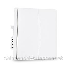 Вимикач Aqara Smart Light Switch Live Double Button ZigBee Version QBKG03LM