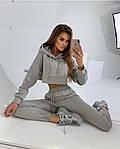 Жіночий спортивний костюм, турецька двунить, р-р С-М; М-Л (сірий), фото 2