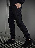 Стильні чоловічі штани чорного кольору. Штани чоловічі базові чорні., фото 1