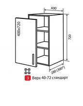 Кухня M.Gloss 400 В/3 антрацит/шейк (VIP master)