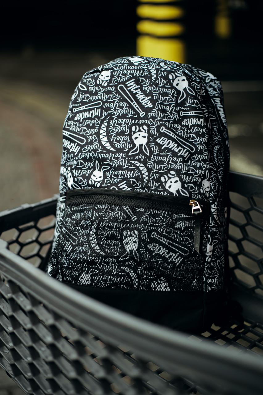 Рюкзак Intruder Bunny Logo Городской для ноутбука черный-белый