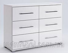 Комод Фемелі 6Ш білий (Міромарк)