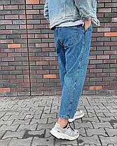 Чоловічі джинси МОМ прямі сині, фото 2