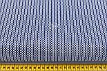 """Клапоть тканини """"Подвійний міні зигзаг синього кольору на білому, колекція Mini-mikro, №2222а, розмір 30*80 см, фото 3"""