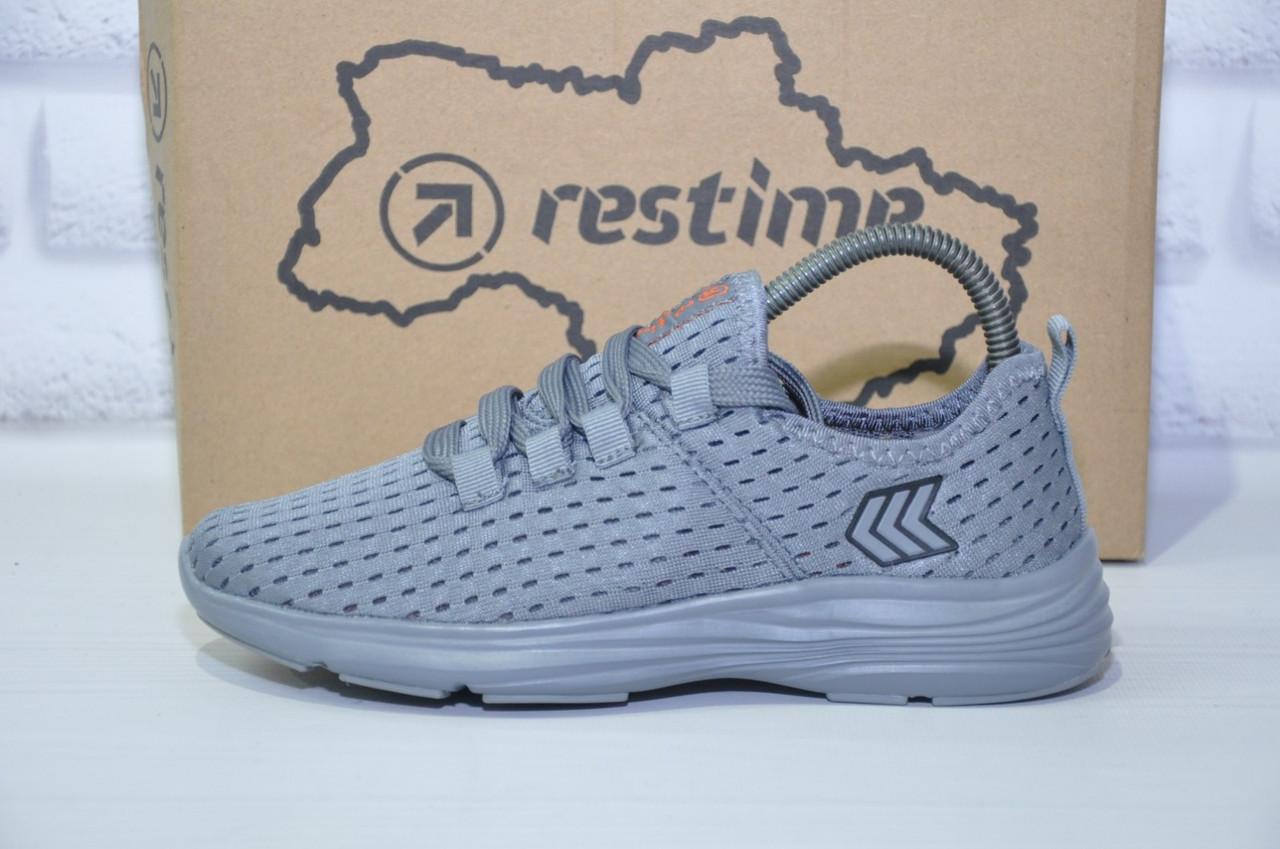 Підліткові легкі кросівки сітка сірі Restime