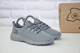 Підліткові легкі кросівки сітка сірі Restime, фото 2