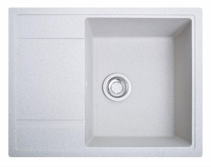 Кухонна гранітна біла мийка Galati Jorum 65 Biela (101)