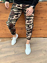 Штаны мужские Карго Слим камуфляжные. Стильные мужские спортивные штаны карго камуфляж., фото 2