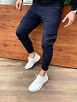 Штаны мужские Карго Слим камуфляжные. Стильные мужские спортивные штаны карго камуфляж., фото 3