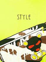 Футболка мужская кислотного цвета с принтом Бананка. Яркая мужская футболка желто-салатовая с модным принтом., фото 3