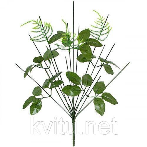 Нога букетная 14-ка с листом и ёлочкой, 48 см