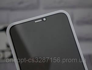 Защитное стекло 3D Strong антишпион Iphone 12/12 Pro Black