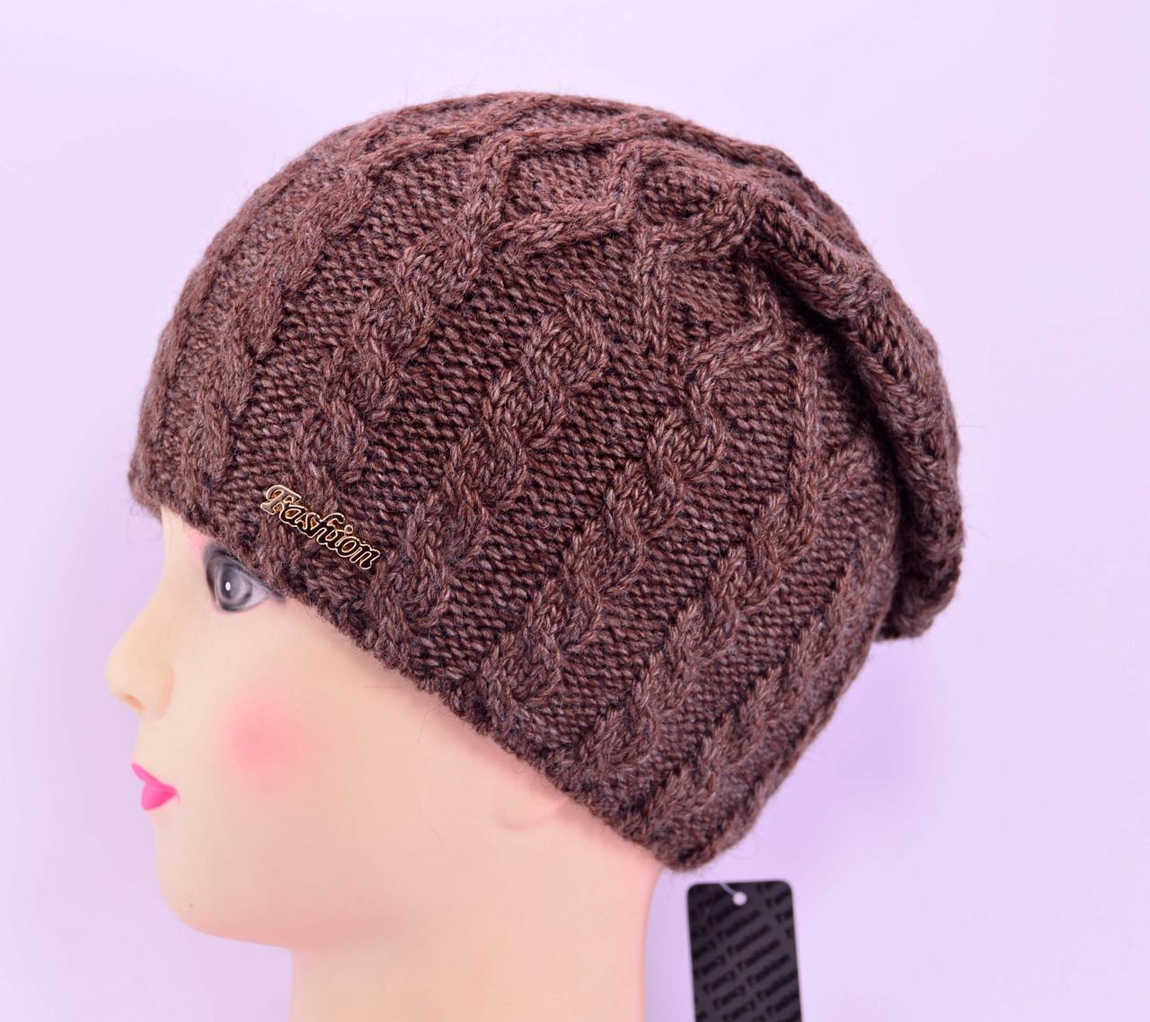 """Женская шапка, """"Моника"""" (Шоколад)"""