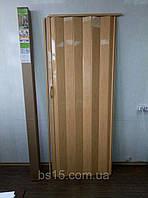 Двери гармошка глухая №10 сосна медовая, 81*203*0,6 см