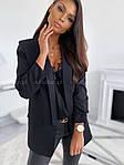 Женский пиджак, креп - костюмка класса люкс, р-р С-М; М-Л (чёрный), фото 3