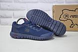 Підліткові кросівки весна/літо сітка сині Restime, фото 3