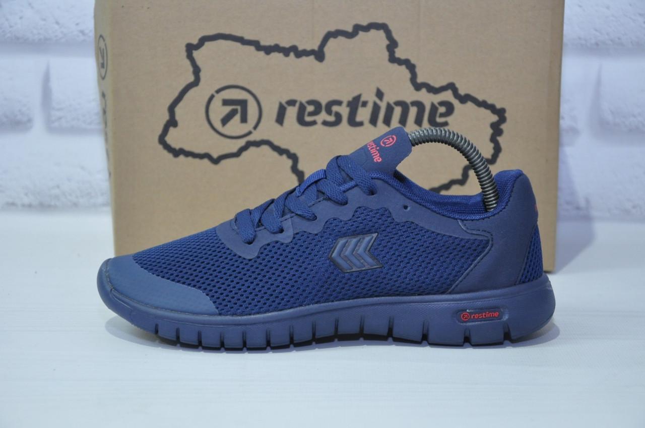 Підліткові кросівки весна/літо сітка сині Restime