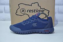 Подростковые кроссовки весна/лето сетка синие Restime