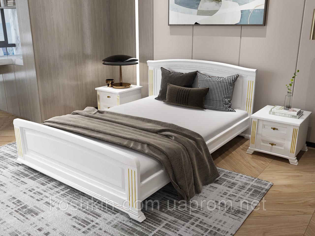 Двуспальная деревянная кровать Afina