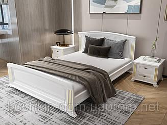 Двоспальне дерев'яне ліжко Afina